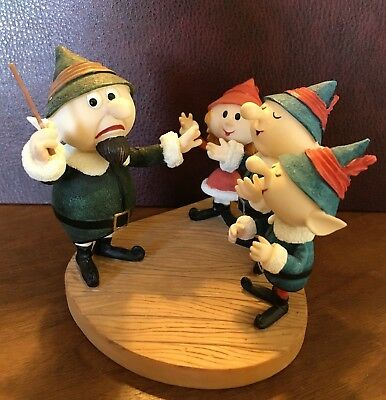 Rudolph and the Island of Misfit Toys Singing Elves Figurine