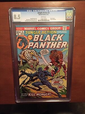 Jungle Action #6 8.5 VF 1st Erik Killmonger App Black Panther movie Villian Key