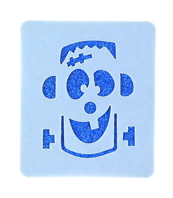 Frankenstein's Monster Face Painting Stencil 7cm x 6cm Washable Reusable Mylar