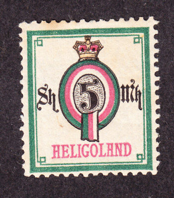 old germany heligoland 5 Sh. / 5M  1879 Mi#20A 20A MH * expertized proved