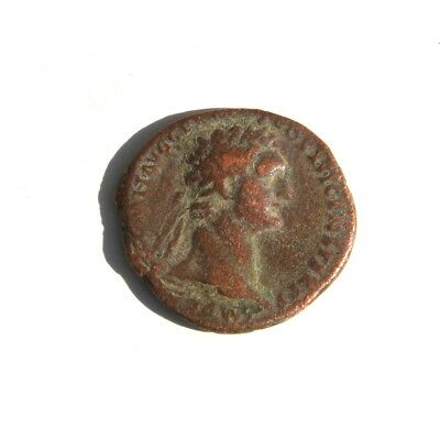 Domitian Roman emperor from 81 to 96 AD  Fortuna With Rudder & Cornucopia