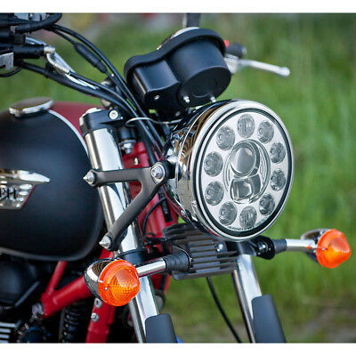 "7"" LED motorcycle headlight chrome high low beam 1PCE for Yamaha Ducati"