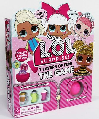 LOL Surprise! 7 layers of fun! The Board Game! Exclusive Accessories