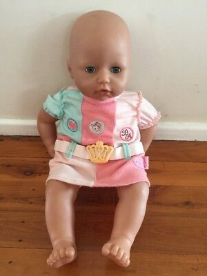 Baby Born Zapf Creation Doll 2005 Make Sound When Press Tummy Girl Toy