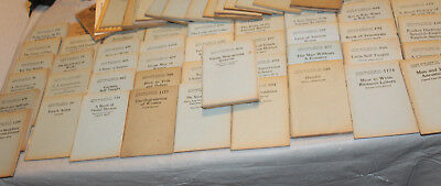 Little Blue Books LOT OF 65 WHAT HOW TO HISTORY BOOKS Vtg 1920s w/Box & Catalog