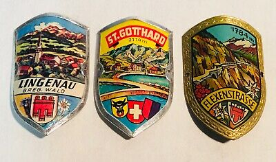 Vintage Walking stick Badge – St-Gotthard 2114m – MINT condition