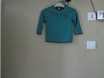 pull sweat orchestra garçon, vert, manches longues taille 2 ans