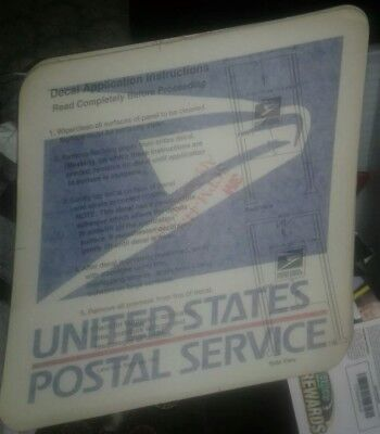 Vintage USPS Collection Box Stickers