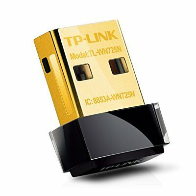 TP-LINK TL-WN725N 150 Mbps Wireless-N Nano USB Adapter, 2.4 GHz Only - Black