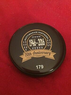 Nottingham Panthers 70th Anniversary Rare Ice Hockey Puck