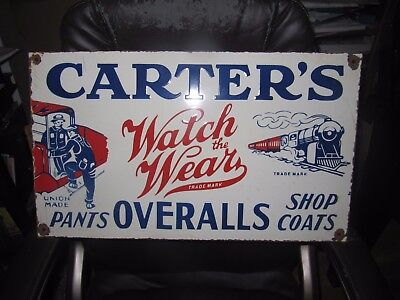 Carter's Pants and Overalls Porcelain Sign