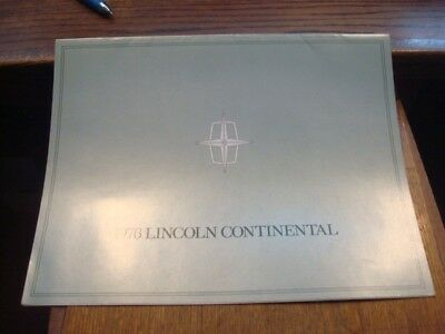 """1976, Dealer Brochure, """"LINCOLN"""", Continental ,  9 pgs   ( HH )"""
