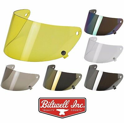 Biltwell Gringo S Flat Shield Anti Fog Flip Visor - ALL COLORS