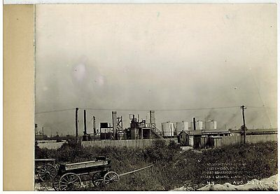 1917 VINTAGE PHOTOGRAPH SINCLAIR OIL Refinery East Chicago Indiana  BW #25