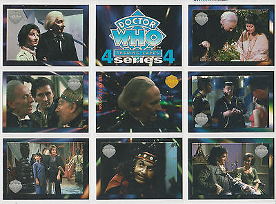 Rare: Complete set Doctor Who trading cards series 4 Cornerstone.