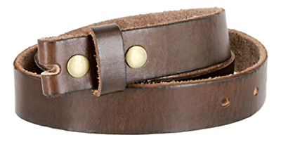 Genuine Full Grain Leather Women Vintage Style Brown Belt Strap To Change Buckle