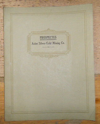 1934 Prospectus,Aztec Silver-Gold Mining Co.
