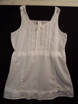 Vintage 1960s Little Girl Child Full Slip Petticoat Lace Embroidery size 6X