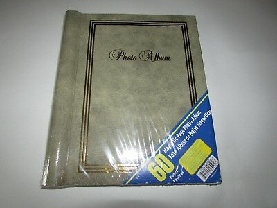 NEW - Classy Photo Album - Magnetic Pages Binder Dark Gray 60 Pages