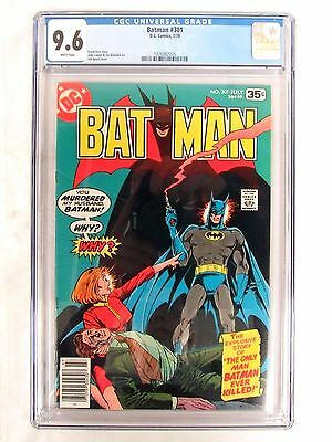 DC Comics Batman #301 (1978) Smoking Gun Aparo CGC 9.6 Beauty White Pages FL368