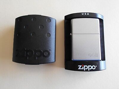 Zippo Lighter Silver Tone Vintage New In Box Nr