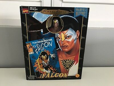 """Marvel Famous Covers 8"""" Limited The Falcon Toybiz. Collectible, Toy, Comics, Bar"""