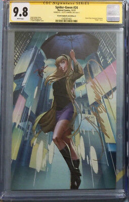 Spider-Gwen #24 Variant Cover D Signed J Scott Campbell NYCC CGC SS 9.8