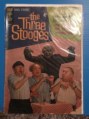 The Three Stooges #24 (Jul 1965, Western Publishing) House Of Many Monsters!