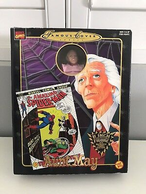 """Marvel Famous Covers 8"""" Limited Aunt May Toybiz. Collectible, Toy, Comics, Bar"""