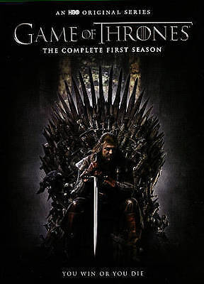 Game of Thrones: The Complete First 1st Season (DVD, 2015, 5-Disc Set) NEW