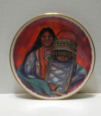 mother and child of the Apache people plate Indian collectors Gorham plate