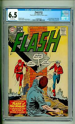 Flash #123 Cgc 6.5 1961 Earth Two Off White Pages Ga Flash