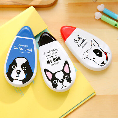 Cute Dog White Correction Fluid Tape Paper Office School Supplies Stationery 30m