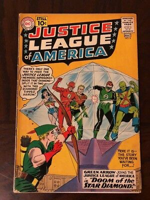 Justice League of America #4. 1961. Green Arrow Joins. Key! VG/FN. Low Start!!