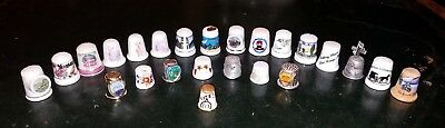 24 Thimbles For Your Collection, Ceramic, Wood and Metal