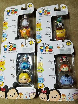 tsum tsum disney set of four series 1 Mickey, Minnie, Rigger, pooh, & more new