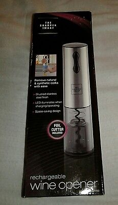 New The Sharper Image Rechargeable Wine Opener