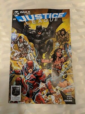 New JUSTICE LEAGUE Exclusive IMAX DC Comic Book AMC Theaters Ltd Ed Giveaway