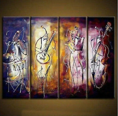 """""""100% hand painting""""Modern Abstract Huge Wall Art Oil Painting On Canvas 4pc"""