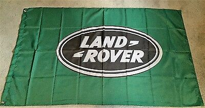 LAND ROVER FLAG GREEN HUGE .Classic car show, Man Cave, Garage, Shed