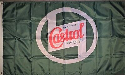 CASTROL Wakefield HUGE Flag..Classic car show, Man Cave, Garage, Shed