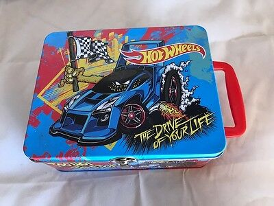 Hot Wheels Carry Case - The Drive of Your LIfe Tin - Too Hot To Stop - Holds 18