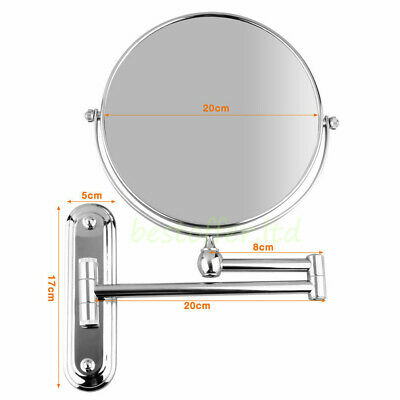 Wall Mounted Bathroom Double Side Magnifying Makeup Cosmetic Skincare Mirror