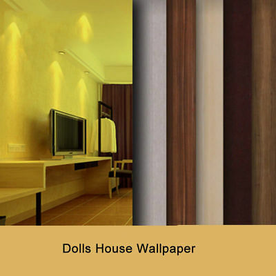 Dolls House Wallpaper Scale 1:25 Quality Paper 140*297mm For Desktop Cabinet