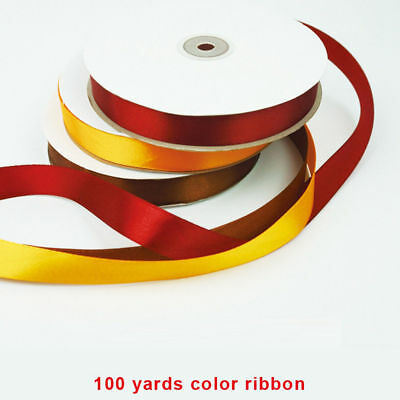 Wedding DIY Craft Gift Pack Fastener Tag Ties Wire Wrapping Ribbon Satin Bowknot