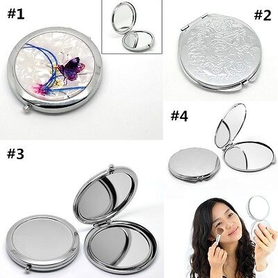NEW Fashion Round Portable Pocket Mirror Compact Double Side Makeup Cosmetic