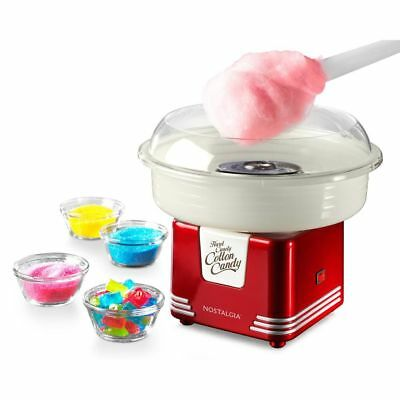 Electric Cotton Candy Maker Red Machine Kit Store Booth vintage Sugar Commercial