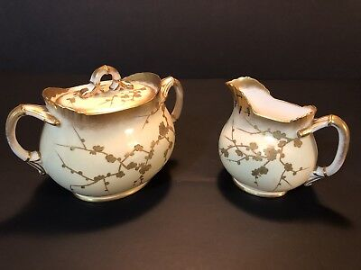 Crescent & Sons Creamer and Sugar Bowl w/ Lid Set