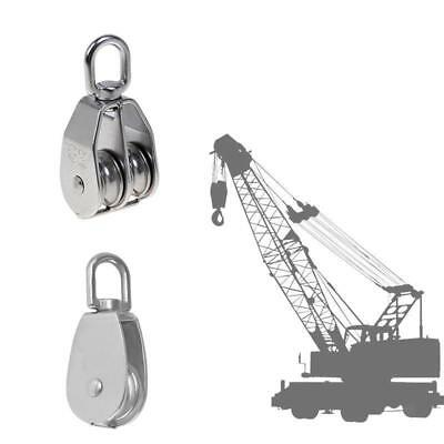 Double & Single Pulley Swivel Sheave Pulley Wheel Lifting Sheave M75 Silver