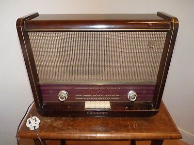 Vintage Collectable 1950's Phillips Valve Radio Working,pub,cafe Bar, Home Decor